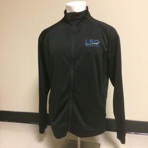 Tri Mountain Performance Black Zip Up Jacket Large